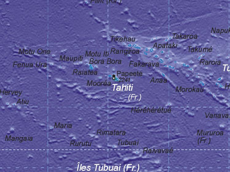 Landkarte Von Tahiti Fr