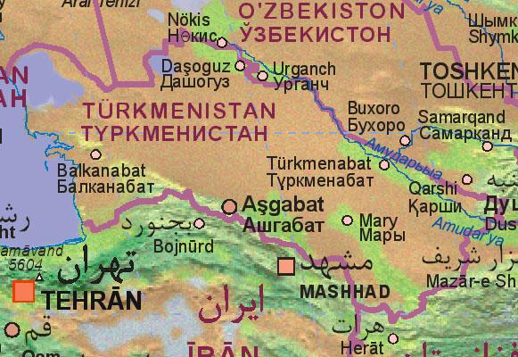 Of Turkmenistan - Turkmenistan map