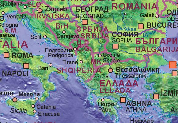 Landkarte Von Albanien