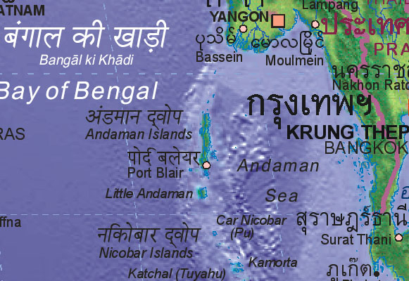 Map of Andaman Islands [IN]
