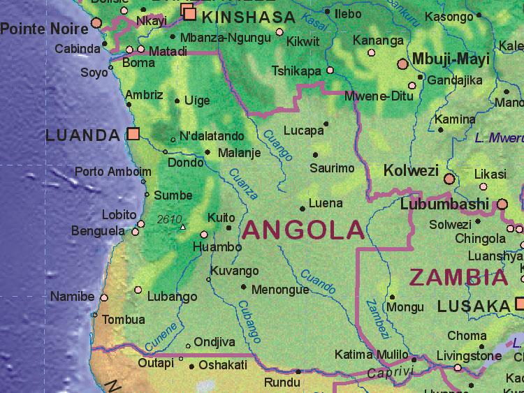 Map of Angola Map Of Angola on map of armenia, map of ghana, map of lesotho, map of southern europe, map of argentina, map of africa, map of albania, map of namibia, map of philippines, map of zambia, map of mozambique, map of burkina faso, map of bolivia, map of chile, map of african countries, map of botswana, map of madagascar, map of djibouti, map of latvia, map of spain,