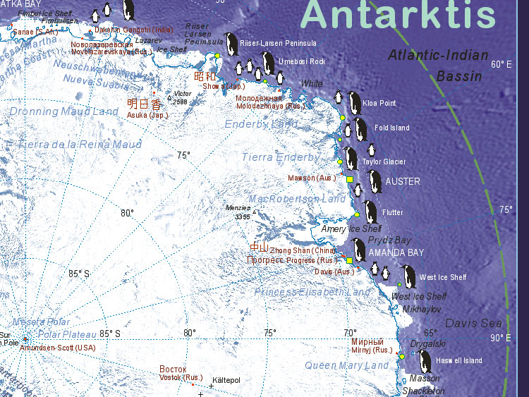 map of antarctica in the world. Map of Antarctica (Enderby