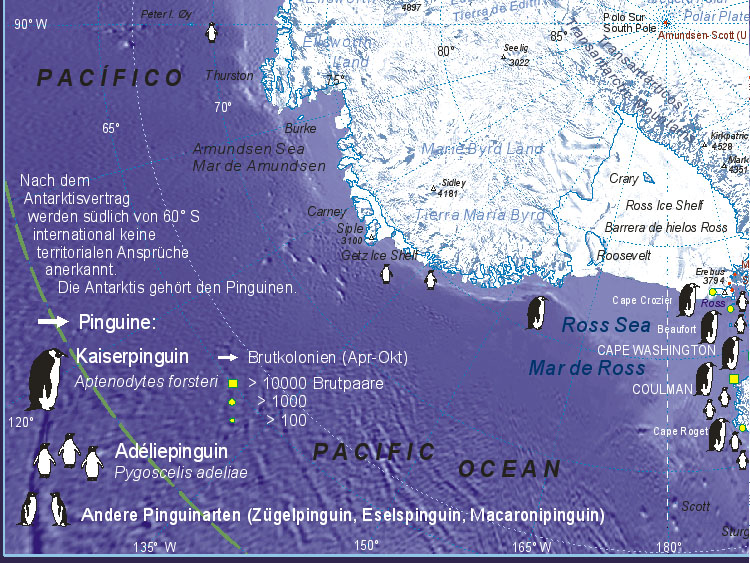 Map of Antarctica (Marie Byrd Land)