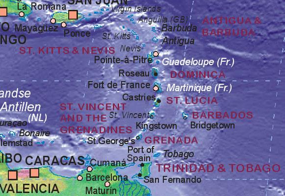 Landkarte von Grenada