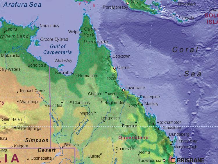 map of australia northeast