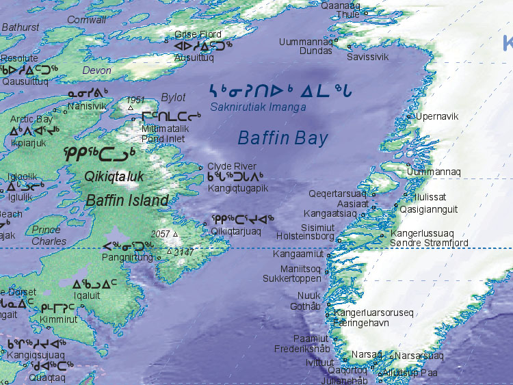 Map of Baffin Bay [~~~~~]