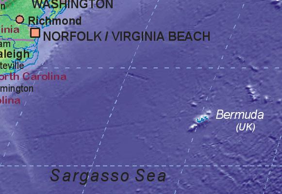 Landkarte von Bermuda [UK]