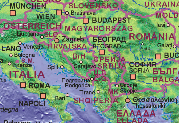 maps of bosnia and herzegovina. Map of Bosnia and Herzegovina