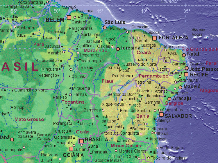 Map of Brazil (northeast)