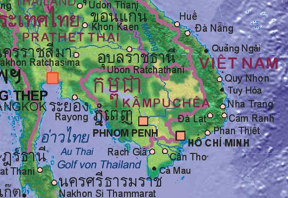 Landkarte von Kambodscha