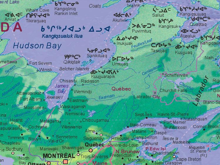 Map Of Canada Quebec