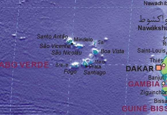 Wo Liegt Kapverden Karte.Landkarte Von Kapverden