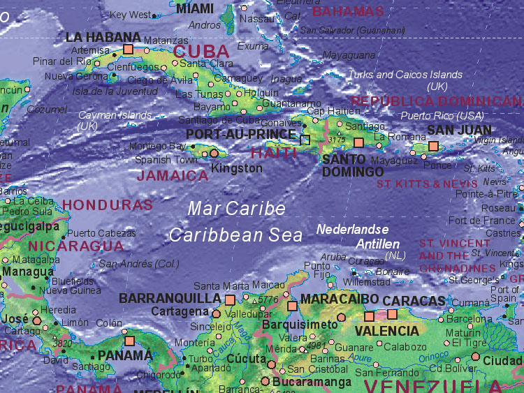 Of Caribbean Sea - Map of the caribbean sea