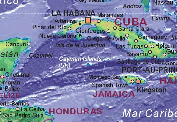 Of Cayman Islands UK - Cayman islands map