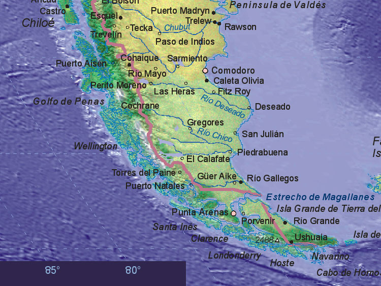 Map Of Chile South