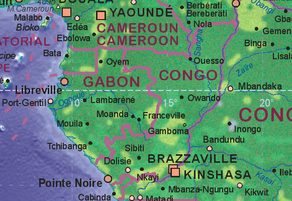 Map of Congo (Brazzaville)