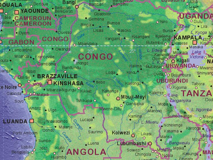 Map Of Congo Kinshasa