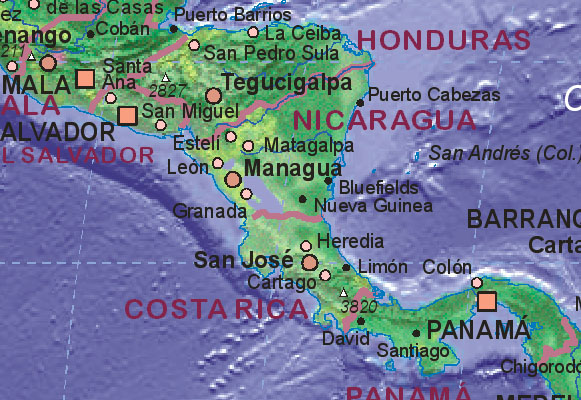Of Costa Rica - Map of costa rica world