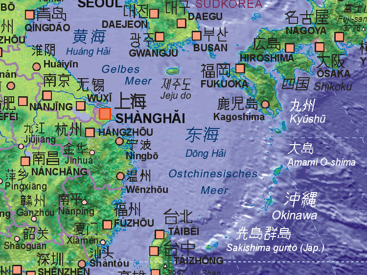 Map of East China Sea [~~~~~]