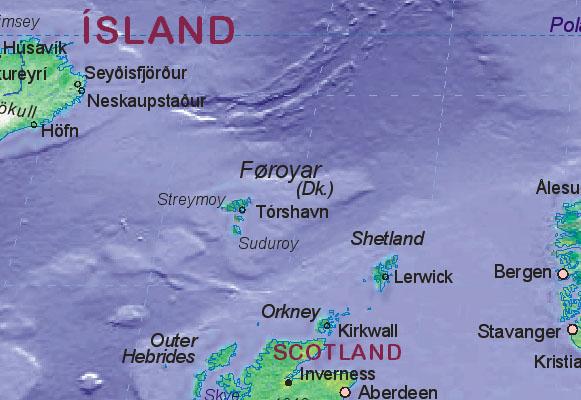 Färöer Inseln Karte.Landkarte Von Färöer