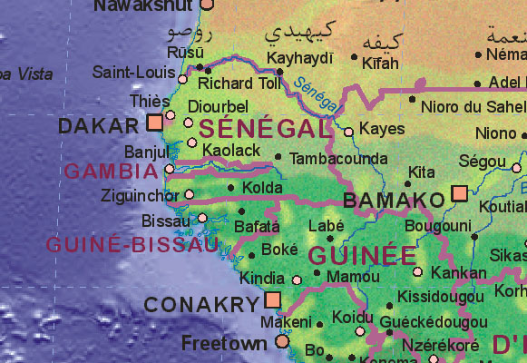Of Gambia - Gambia map