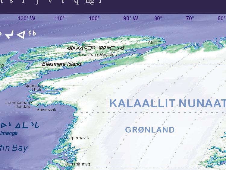 Of Greenland Northwest - Greenland map