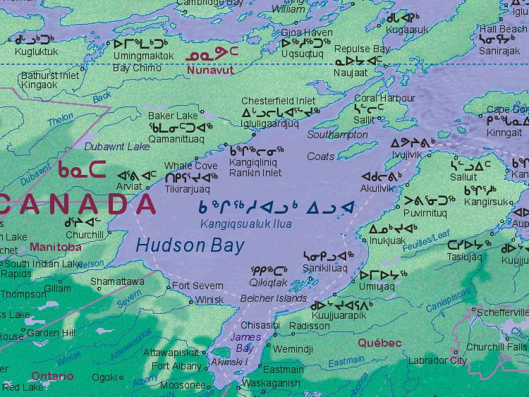 Landkarte von Hudson Bay [~~~~~]