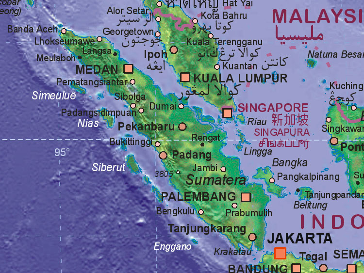 Map of Indonesia (Sumatra)