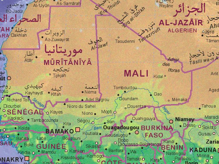 Landkarte von Mali