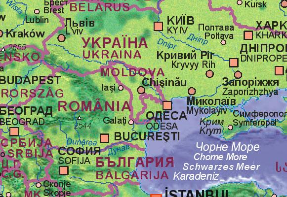 Landkarte moldawien mit umgebung mapof moldova mapa de moldavia