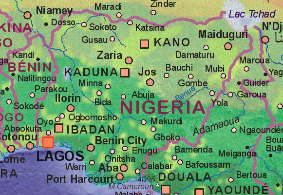 Of Nigeria - Map of nigeria