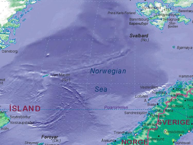 Sea Map - Norway encarta map