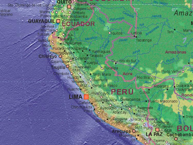 Of Peru - Map of peru