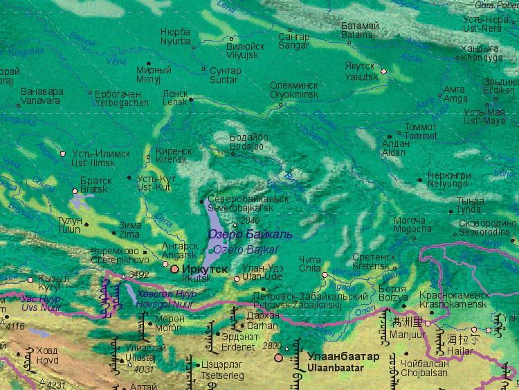 Map of Russia (Irkutsk)