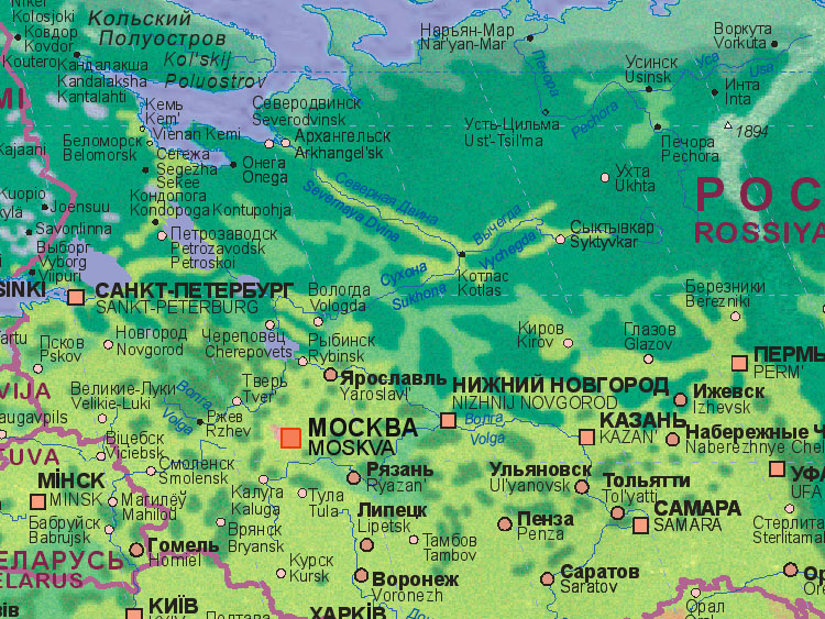Of Russia Moscow - Map of russia