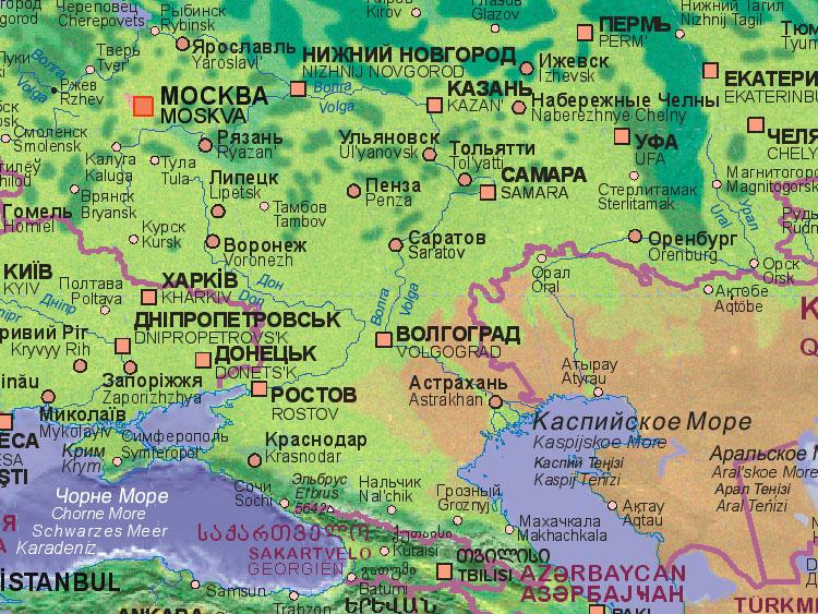 Stalingrad Karte Europa.Landkarte Von Russland Wolgograd