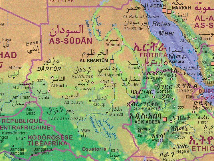 Of Sudan - Sudan map