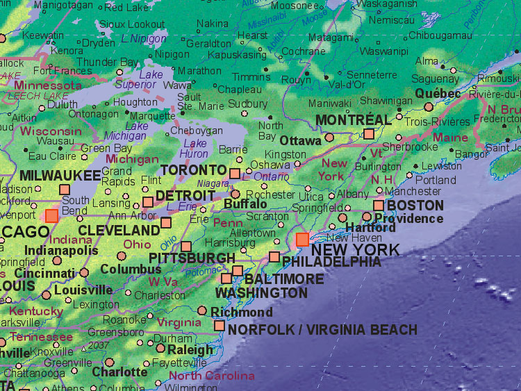 Of United States Northeast - Ne us map states
