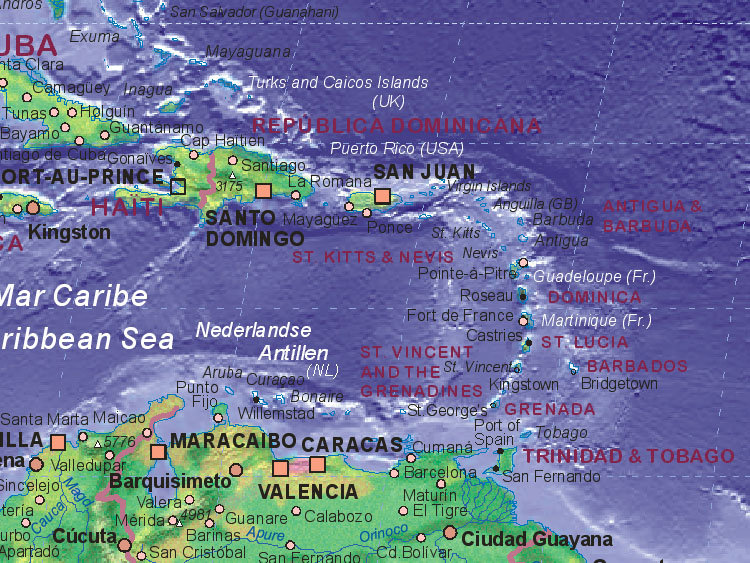 Of Caribbean Sea West - Map of the caribbean sea
